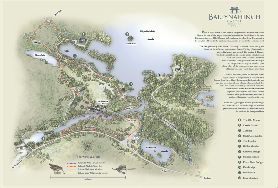 Ballynahinch Walking Map