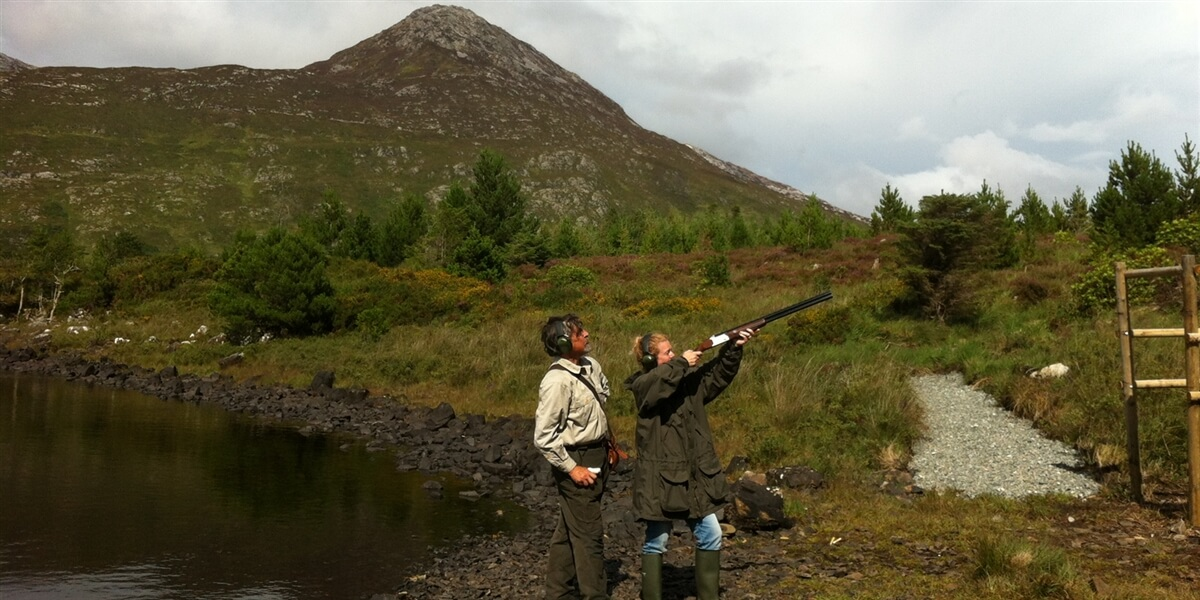 Clay pidgeon shooting in Connemara